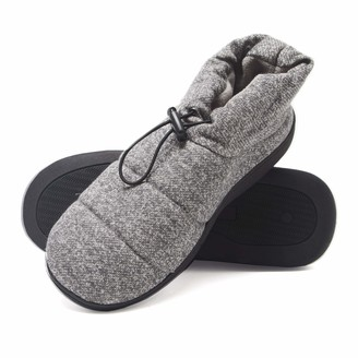 Hanes Mens Slipper Boot House Shoes with Indoor Outdoor Memory Foam Odor Protection Fresh IQ Sole