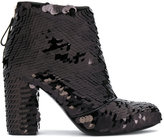 Premiata sequin embellished ankle booties