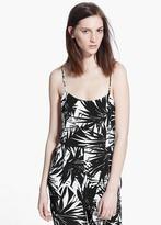Mango Outlet Palm Print Jumpsuit