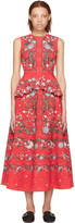 Erdem Red Queenie Convertine Tank Top