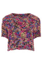 Topshop Knitted paper fluffy top