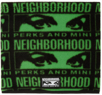 Perks And Mini Black and Green Neighborhood Edition Fleece Scarf