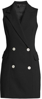Black Halo Rio Sleeveless Blazer Dress