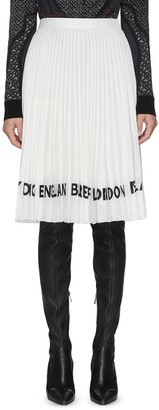 Burberry Logo print pleated skirt