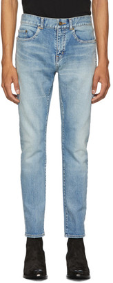 Saint Laurent Blue Skinny Jeans