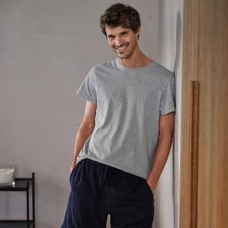 The White Company Mens Pyjama Top, Mid Grey Marl, Extra Large