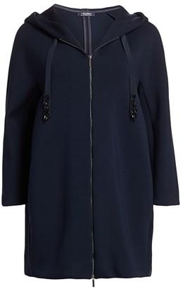 Max Mara Chimera Long-Line Hooded Sweater