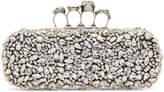 Alexander McQueen Black Crystal Knuckle Box Clutch