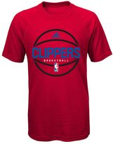 adidas Boys 8-20 Los Angeles Clippers climalite Practice Tee
