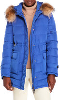 annabelle Real Fur Trim Hooded Down Puffer Coat