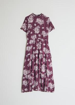 Farrow Women's Adelaide Mock Neck Dress in Purple, Size Small