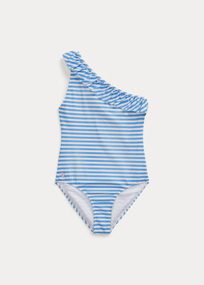 Ralph Lauren Ruffle 1-Piece Swimsuit