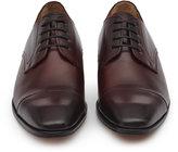 Reiss Reiss Finley - Toe Cap Derby Shoes In Red