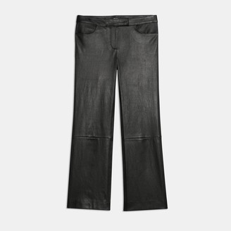 Theory Cropped Pant in Leather