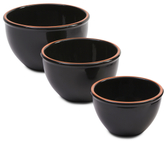 Made In Portugal Set Of 3 Terracotta Bowls