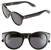 Givenchy Women's 49Mm Round Sunglasses - Blue Mirror