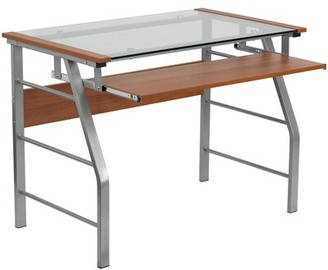 Boyne Glass Desk Ebern Designs