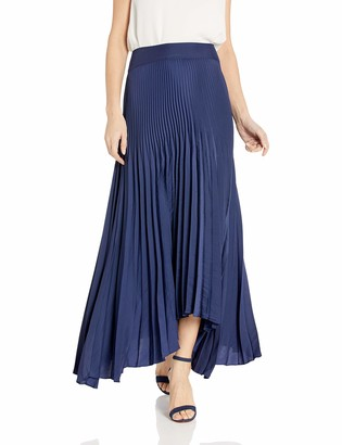 Ramy Brook Women's Maxine Pleated Maxi Skirt Spring Navy 4
