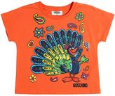 Moschino Peacock Printed Cotton Jersey T-Shirt