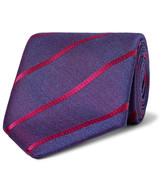 Charvet 8cm Striped Silk Tie
