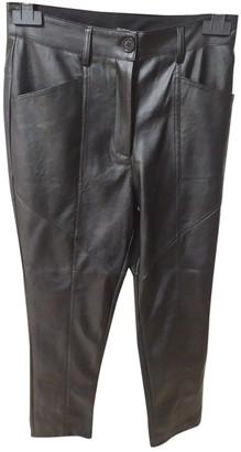 Non Signã© / Unsigned Non SignA / Unsigned Black Leather Trousers