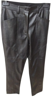 Non Signé / Unsigned Non Signe / Unsigned Black Leather Trousers