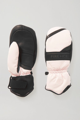 Bogner Fire & Ice BOGNER FIREICE - Palina Shearling-lined Padded Leather And Shell Ski Mittens - Black