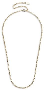 BaubleBar 14K Gold Plated Figaro Link Collar Necklace, 16-19