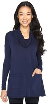 Mod-o-doc Cotton Modal Spandex French Terry Long Sleeve Cowl Neck Pullover Women's Clothing