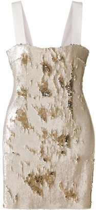Galvan Salar sequinned mini dress