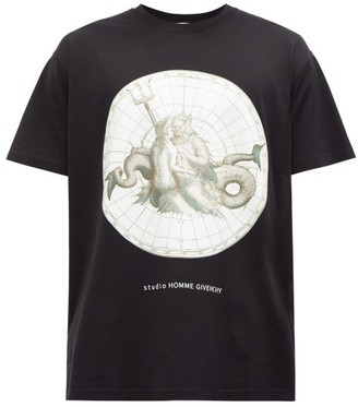 Givenchy Poseidon-print Cotton-jersey T-shirt - Black