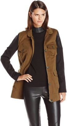 James Jeans Women's Ponte Sleeve Utility Jacket
