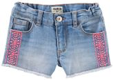 Osh Kosh Girls 4-12 Embroidered Denim Shorts