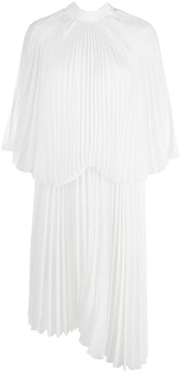 Brognano Asymmetric Pleated Cocktail Dress
