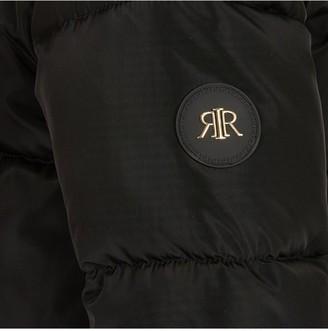 River Island Girls Faux Fur Hooded Padded Coat - Black