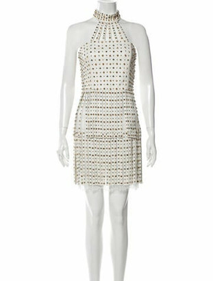 Alice + Olivia Lamb Leather Mini Dress w/ Tags Gold