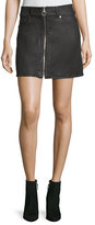 7 For All Mankind Zip-Front A-line Mini Skirt