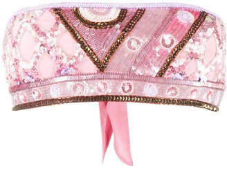 Emilio Pucci Sequin Embellished Crop Top