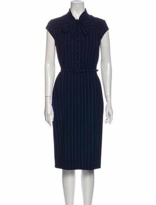 Ralph Lauren Purple Label Wool Midi Length Dress w/ Tags Purple