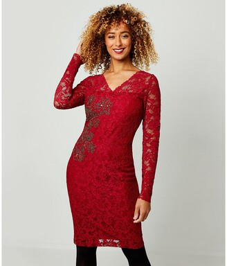 Joe Browns Embroidered Lace Fitted Dress