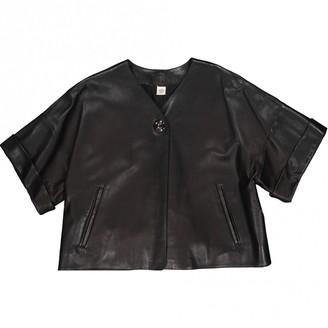 Hermes Black Leather Jackets
