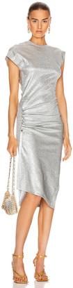 Paco Rabanne Midi Dress in Silver Metallic | FWRD