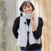The White Company Cable Pom-Pom Scarf