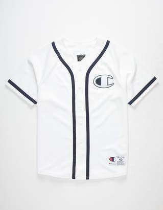 Champion Mesh White Mens Baseball Jersey