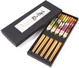 Yosoo 5 Pair Japanese Sushi Style Chopsticks Gift Set Bamboo Chopsticks Set