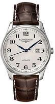 Longines Master Round Leather Strap Watch