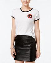 Mighty Fine Juniors' Deadpool Graphic Ringer T-Shirt