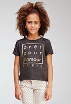 Forever 21 Metallic Paris Sweatshirt (Kids)