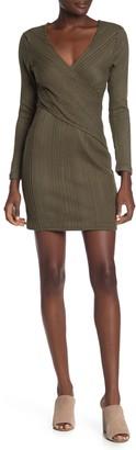 Max & Ash Wrap Ribbed Knit Mini Dress