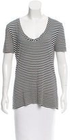 Tory Burch Striped Scoop Neck T-Shirt